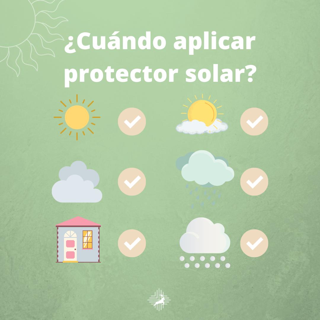 cuando usar protector solar