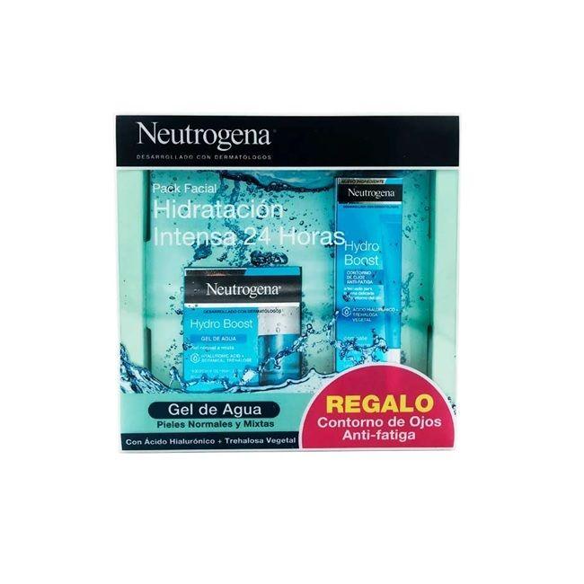 neutrogena hydra boost gel de agua y contorno de ojos regalo